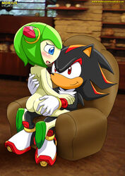 anthro cosmo_the_seedrian furry mobius_unleashed sega shadow_the_hedgehog sonic_(series)