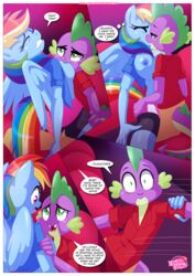anthro bbmbbf big_breasts breast_suck breasts equestria_untamed equine friendship_is_magic mammal my_little_pony palcomix pegasus public rainbow_dash_(mlp) spike_the_dragon sucking wings