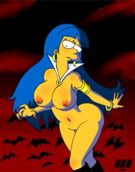 blue cospaly gkg hair marge mother simpons simpsons the vampirella