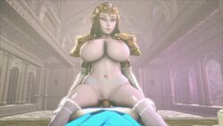 1girl animated big_ass big_breasts blonde blonde_hair blue_eyes breasts cowgirl dat_ass fat_ass female hyrule_warriors jujala large_breasts legend_of_zelda light_skin link male moaning nude pale penis pointy_ears pov princess_zelda sound source_filmmaker straight the_legend_of_zelda thighhighs webm
