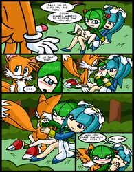2girls cosmo_the_seedrian galaxina_the_seedrian sex sonic_(series) tails