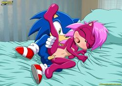 bed blue_fur brother brother_and_sister cum cum_in_pussy cum_inside furry hedgehog incest mammal mobius_unleashed palcomix pillow sex sister sonia_the_hedgehog sonic_(series) sonic_the_hedgehog uncensored