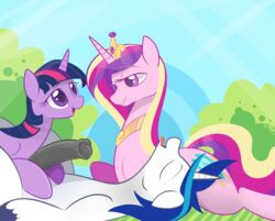 2015 animal_genitalia animal_penis black_penis blue_eyes blue_hair braddo closed_eyes cutie_mark equine equine_penis female feral friendship_is_magic fur group hair horn incest lying male mammal multicolored_hair my_little_pony open_mouth penis pink_eyes pink_fur princess_cadance_(mlp) purple_eyes purple_hair shining_armor_(mlp) smile straight tongue tongue_out twilight_sparkle_(mlp) two_tone_hair unicorn white_fur