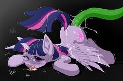 alicorn cum cum_in_mouth cum_inside cum_on_back equine feathered_wings feathers female feral friendship_is_magic greyscale hioshiru hooves horn mammal monochrome my_little_pony penetration solo tentacle tongue twilight_sparkle_(mlp) wings