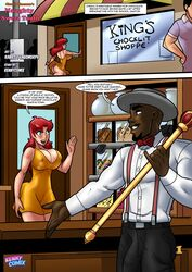 archie_comics ass bbc big_ass big_breasts big_penis breasts bulge cheryl_blossom cleavage dark-skinned_male dark_skin english_text female interracial kennycomix male penis rabies-t-lagomorph red_hair