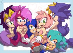 amy_rose bernadette_hedgehog breasts breezie_the_hedgehog hedgehog incest mammal penis queen_aleena sonia_the_hedgehog sonic_(series) sonic_the_hedgehog the_other_half tongue tongue_out