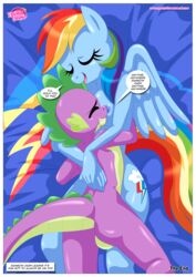 anthro bbmbbf big_breasts breast_pillows breasts equestria_untamed equine friendship_is_magic mammal my_little_pony palcomix pegasus rainbow_dash_(mlp) spike_the_dragon wings