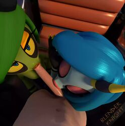 2017 2girls 3d alien animated big_penis blenderknight blue_hair erection female fingernails green_hair green_skin hands huge_penis human interspecies lips lipstick makeup male multiple_girls no_sound nude oral orange_lipstick penis pov sex sonic_(series) sonic_lost_world tagme threesome webm zeena