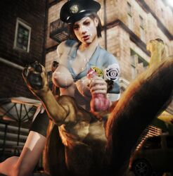 3d anal canine cum cum_on_breasts cum_on_face imaginarydigitales jill_valentine knot resident_evil xnalara zoophilia