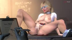 3d animated areolae blonde_hair breasts female fugtrup glasses grand_theft_auto grand_theft_auto_v long_hair masturbation nipples no_sound pussy skirt solo_focus source_filmmaker spread_legs tracey_de_santa upskirt webm