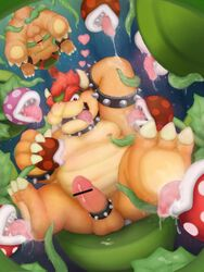 anal anal_sex anthro anus areola armpit_lick armpits ass balls barefoot bondage bound bowser bowser_jr. censored claws cock_ring cum cum_on_penis cum_string drooling erection flora_fauna foot_fetish foot_lick group group_sex horn king koopa licking looking_at_viewer male messy moobs nintendo nipple_lick nipples nude open_mouth oral orgasm orgy overweight penetration penis piranha_plant plant presenting presenting_hindquarters raised_arm reuben_(artist) royalty saliva scalie sex sharp_claws sharp_teeth sitting size_difference slightly_chubby smile spikes spread_legs spreading super_mario_bros. teeth tentacle toe_claws tongue tongue_out uncut upside-down warp_pipe