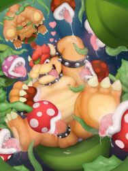 anal anal_sex anthro anus areola armpit_lick armpits ass balls barefoot bondage bound bowser bowser_jr. censored claws cock_ring cum cum_on_penis cum_string drooling erection fellatio flora_fauna foot_fetish foot_lick group group_sex horn king koopa licking looking_at_viewer male messy moobs nintendo nipple_lick nipples nude open_mouth oral orgasm orgy overweight penetration penis piranha_plant plant presenting presenting_anus presenting_hindquarters raised_arm reuben_(artist) royalty saliva scalie sex sharp_claws sharp_teeth sitting size_difference slightly_chubby smile spikes spread_legs spreading super_mario_bros. teeth tentacle toe_claws tongue tongue_out uncut upside-down warp_pipe