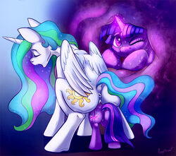2017 alicorn anatomically_correct anatomically_correct_pussy animal_genitalia animal_pussy anus ass closed_eyes cutie_mark dock duo equine equine_pussy feathered_wings feathers female feral friendship_is_magic glowing hair hooves horn long_hair magic mammal multicolored_hair my_little_pony one_eye_closed open_mouth ponythroat princess_celestia_(mlp) pussy pussy_juice twilight_sparkle_(mlp) two_tone_hair unbirthing unicorn vore white_feathers wings yuri
