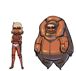 android breeding_season clothing female humanoid machine not_furry panties robot s-purple solo tardigrade underwear