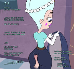 ass clothes large_ass lovestar_(artist) penis queen_butterfly room star_vs_the_forces_of_evil