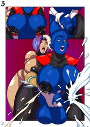 anal ass big_ass big_breasts blue_skin breasts cum futa_on_female huge_ass marvel nightcrawler rape rule_63 x-men