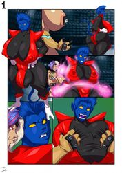 anal ass big_ass big_breasts blue_skin futa_on_female huge_ass marvel nightcrawler rape rule_63 tits x-men