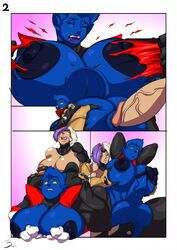 anal anal_sex ass big_ass big_breasts blue_skin breasts futa_on_female huge_ass marvel nightcrawler rape rule_63 x-men