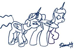 2017 alicorn anatomically_correct anatomically_correct_pussy animal_genitalia animal_pussy animated anus clitoris dock duo equine equine_pussy female friendship_is_magic hair horn incest mammal my_little_pony open_mouth princess_celestia_(mlp) princess_luna_(mlp) pussy selenophile sibling surprise tongue wings