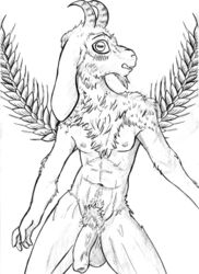 2016 5_fingers abs anthro arm_tuft athletic ball biped blush body_hair caprine caught cheek_tuft chest_tuft embarrassed facial_hair flaccid floppy_ears front_view fur goat goatee happy_trail horizontal_pupils horn humanoid_hands humanoid_penis inner_ear_fluff leg_tuft long_foreskin looking_at_viewer looking_away male mammal muscular muscular_male navel nipples nude pencil_(artwork) penis plant portrait pseudosharp pubes raised_eyebrow simple_background solo standing surprise three-quarter_portrait traditional_media_(artwork) tuft uncut vein veiny_penis wheat white_background wide_eyed