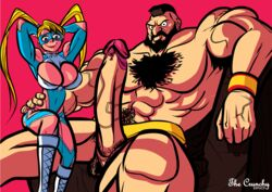 abs big_breasts big_cock big_penis blonde_hair breasts capcom female huge_breasts huge_cock hyper_penis large_breasts large_penis male muscular perky_breasts rainbow_mika sideboob size_difference street_fighter street_fighter_v thecrunchy veins veiny_penis zangief