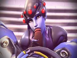 3d animated breasts erection female haysins large_breasts licking looking_at_viewer lucio male no_sound open_mouth overwatch penis penis_lick pov source_filmmaker straight tongue tongue_out webm widowmaker
