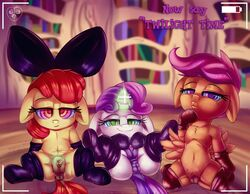 2017 apple_bloom_(mlp) earth_pony equine female friendship_is_magic hair horn horse mammal my_little_pony oddciders pony pussy scootaloo_(mlp) sweetie_belle_(mlp) unicorn young