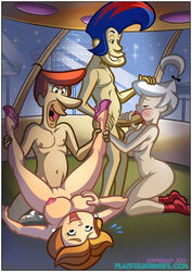 balls breasts fellatio female george_jetson human incest jane_jetson jet_screamer judy_jetson male masturbation nipples oral penis playfulhunnies sex the_jetsons