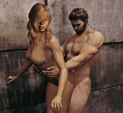 1boy 1girl 3d ass blonde_hair breasts butt chris_redfield female games human legs male naked nude posing rachel_foley resident_evil resident_evil_6 resident_evil_revelations sex solo solo_female solo_male video_games xnalara xps