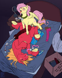 2013 anal anal_sex animal_genitalia animal_penis balls bed big_macintosh_(mlp) biting_lip blush cartoonlion cartoonlion's_futaverse collar cum cum_in_ass cum_inside cum_while_penetrated cumshot cutie_mark dickgirl dickgirl/male dickgirl_penetrating dildo duo earth_pony ejaculation english_text equine equine_dildo equine_penis erection fan_character feathered_wings feathers feral fetlocks fluttershy_(mlp) freckles friendship_is_magic fur futashy_(cartoonlion) hair hands-free hi_res hooves horse intersex intersex/male intersex_penetrating lying male mammal missionary_position mottled_penis my_little_pony on_back open_mouth orange_hair orgasm pegasus penetration penis pink_hair pony red_fur sex sex_toy size_difference spread_legs spreading strapon text tongue tongue_out tyelle_niko wings yellow_feathers yellow_fur