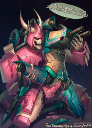 alien angry blood claws cum cum_inside cybertronian cyclonus cyclops dialogue digital_media_(artwork) duo english_text fangs female gore gun horn humanoid larrydraws living_machine machine male male/female not_furry open_mouth penetration penis pink_blood pussy ranged_weapon red_eyes robot simple_background teeth text transformers vaginal_penetration weapon whirl_(transformer) yellow_eyes
