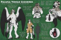 2017 anthro anus areola black_feathers black_fur blue_eyes breasts brown_fur clothed clothing english_text equine feathers female foxifly fur hybrid mammal model_sheet multicolored_feathers multicolored_fur nipples nude pegasus pussy runa216 striped_fur stripes text two_tone_feathers two_tone_fur white_feathers white_fur wings zebra