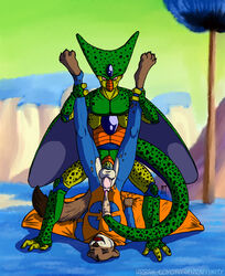 anal cape cell clothing costume dragon_ball dragon_ball_z male male/male mammal mustelid superhero urethral weasel