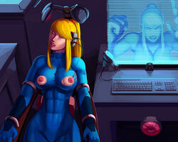 2girls aka6 angry artificial_vagina asleep bad_end blonde blonde_hair blue_eyes bodysuit bondage breasts clothed color colored coma comatose computer edit female fleshlight forced game_over helpless hologram imminent_rape immobile large_breasts looking_at_viewer machine mad mechanical_fixation metroid mind mind_fuck nipples peaceful ponytail samus_aran sex_toy sleep sleeping tech_control tied_hair torn_clothes torn_clothing trapped unconscious unwilling virtual_reality webcam wires zero_suit