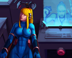 2girls aka6 angry artificial_vagina asleep bad_end blonde blonde_hair blue_eyes bodysuit bondage breasts clothed color colored coma comatose computer female fleshlight forced game_over helpless hologram imminent_rape immobile large_breasts looking_at_viewer machine mad mechanical_fixation metroid mind mind_fuck peaceful ponytail samus_aran sex_toy sleep sleeping tech_control tied_hair trapped unconscious unwilling virtual_reality webcam wires zero_suit