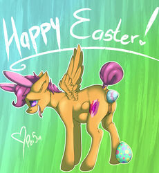 anal anal_sex anus clitoris dripping easter egg equine female friendship_is_magic holidays horse mammal my_little_pony oviposition pegasus penetration poisindoodles pony pussy scootaloo_(mlp) solo stomach_bulge wings young