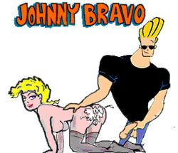 animated cum_on_ass johnny_bravo muscles straight