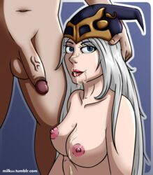 2017 ashe cum cumshot facial league_of_legends milk64