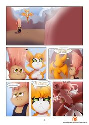 anthro breasts brown_fur canine comic dialogue dust:_an_elysian_tail dust_(character) english_text female fidget fur green_eyes grey_fur hair haley_(elysian_tail) lagomorph male mammal matti membranous_wings multicolored_hair nimbat nipples nude open_mouth orange_fur penetration penis pink_hair pussy rabbit sex simple_background steel_tigerwolf steelphox straight text tongue tongue_out vaginal_penetration video_games white_fur whitephox wings wolf