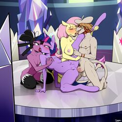 anal anthro bisexual cutie_map equine female fluttershy_(mlp) foursome friendship_is_magic gothitelle group group_sex horse kissing leo_(velociripper) male mammal my_little_pony nintendo pokemon pony pristine sex slypon smeargle twilight_sparkle_(mlp) video_games