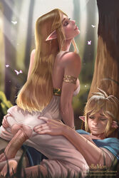 1boy 1girl anus armlet ass ass_grab barefeet barefoot blonde blonde_hair blush breasts breath_of_the_wild closed_eyes clothed_sex cowgirl_position crotch_cutout dat_ass dress elf eyeshadow fat_mons feet female grass happy_sex high_resolution hips hoobamon huge_penis jewelry large_breasts large_penis legs light_rays link lipgloss lips long_hair makeup male mascara nintendo outdoors parted_lips passionate penis pointed_ears princess princess_zelda pussy sex sideboob soles straddling straight strapless strapless_dress the_legend_of_zelda thick_lips thighs torn_clothes torn_dress tree vagina vaginal vaginal_sex white_dress zelda