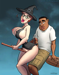 bbc big_penis dark-skinned_male dark_skin female interracial john_persons large_breasts male moose_(artist) precum witch