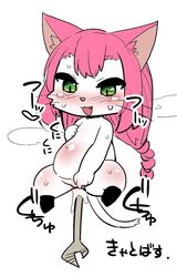 artist_request cat_busters character_request feline furry green_eyes long_hair object_insertion pink_hair wrench