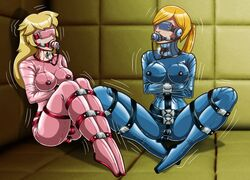 anal_insertion asylum blindfold blonde_hair bondage bound breasts dildo double femsub forced gagged metroid multiple_girls multiple_subs nintendo padding penetration princess_peach remaker samus_aran sensory_deprivation sex_toys straightjacket strapped struggling super_mario_bros. vaginal_insertion