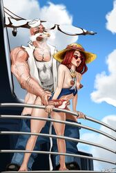 areolae breasts cum cum_in_pussy cum_inside doctorproxy erect_nipples erection female from_behind gangplank league_of_legends male miss_fortune nipples penis sex straight x-ray