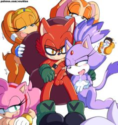 amy_rose blaze_the_cat blush breasts cream_the_rabbit cum cum_in_mouth cum_inside custom_character_(sonic_forces) echidna eyewear feline female glasses hedgehog honey_the_cat lagomorph male mammal monotreme penis pussy senshion sonic_(series) sonic_forces straight tikal_the_echidna