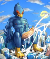 avian bird canine car city clothing cum destruction erection falco_lombardi feet fox fox_mccloud macro male mammal nintendo penis soina star_fox stomping swimsuit vehicle video_games wolf wolf_o'donnell
