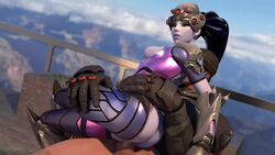 3d animated areolae balls blender breasts erection female lewdxanimations male nipples no_sound overwatch penis reaper sex straight testicles webm widowmaker