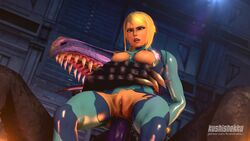 3d anal anal_penetration animated anus areolae blonde_hair bodysuit bouncing_breasts breasts erection female huge_cock kushishekku male metroid nipples no_sound penetration penis pussy ridley samus_aran sex size_difference source_filmmaker straight torn_clothes webm zero_suit