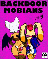 anthro anus ass bat butt_grab clothed clothing cream_the_rabbit duo female female/female hand_on_butt lagomorph mammal membranous_wings pussy rabbit rouge_the_bat skimpy slashysmiley sonic_(series) virtigogun wings